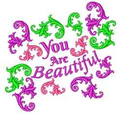 Fleur You Are Beautiful embroidery design