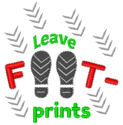 Leave Footprints embroidery design