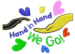 Hand In Hand We Go embroidery design