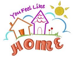 Houses You Feel Like Home embroidery design