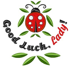 Good Luck Lady embroidery design