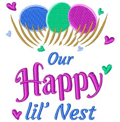 Our Happy Little Nest embroidery design
