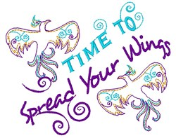 Time To Spread Your Wings embroidery design