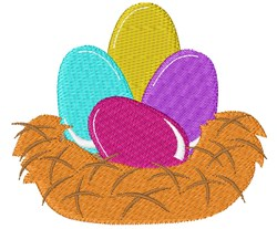 Nest Eggs embroidery design
