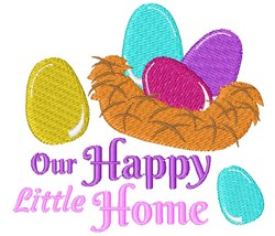 Our Happy Little Home embroidery design