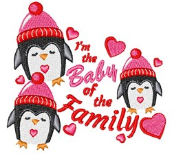 I m The Baby Of The Family embroidery design