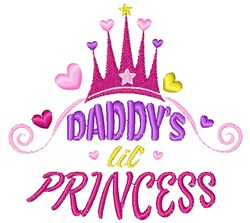 Daddy s Lil Princess embroidery design
