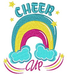 Rainbow Cheer Up embroidery design