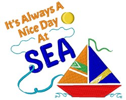 It s Always A Nice Day At Sea embroidery design