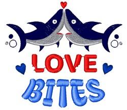 Sharks Love Bites embroidery design