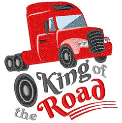 King Of The Road embroidery design