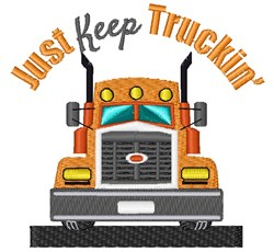 Just Keep Truckin embroidery design