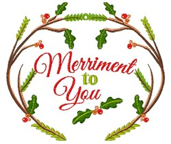 Woodlands Wreath Merriment To You embroidery design