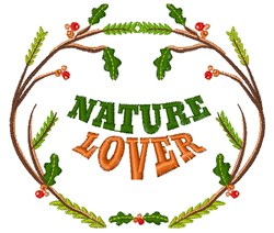 Woodlands Wreath Nature Lover embroidery design