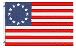 Betsy Ross Flag embroidery design