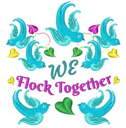 We Flock Together embroidery design