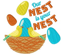 Our Nest Is Your Nest embroidery design