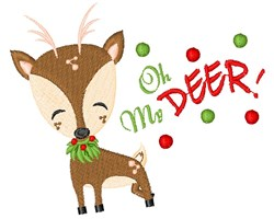 Oh My Deer embroidery design