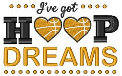 Ive Got Hoop Dreams embroidery design