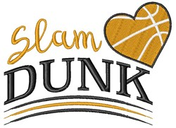 Basketball Slam Dunk embroidery design