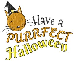 Have A Purrfect Halloween embroidery design