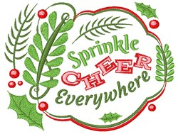 Sprinkle Cheer Everywhere embroidery design