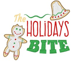 The Holidays Bite embroidery design