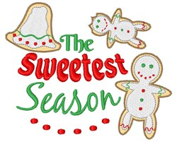 The Sweetest Season embroidery design