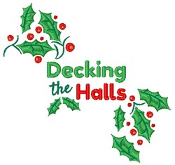 Decking The Halls embroidery design