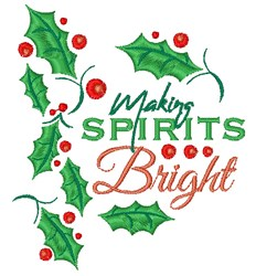 Making Spirits Bright embroidery design