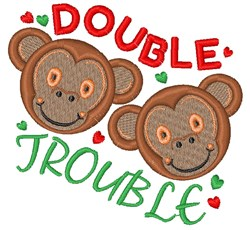 Monkey Double Trouble embroidery design