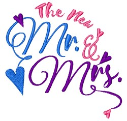 The New Mr & Mrs embroidery design