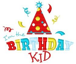 Im The Birthday Kid embroidery design