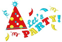Lets Party! embroidery design