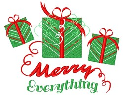 Merry Everything embroidery design