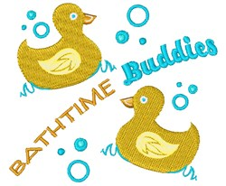 Bathtime Buddies embroidery design
