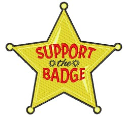 Support The Badge embroidery design