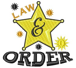 Law And Order embroidery design