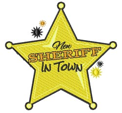 New Sheriff In Town embroidery design