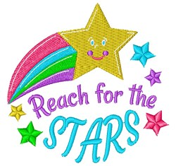 Reach For The Stars embroidery design