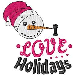 I Love Holidays embroidery design