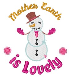 Mother Earth Is Lovely embroidery design