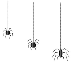 Halloween Spiders embroidery design