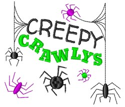 Creepy Crawlys embroidery design