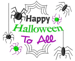 Happy Halloween To All embroidery design