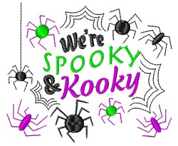 Were Spooky And Kooky embroidery design