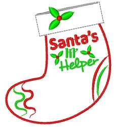Santas Lil Helper embroidery design