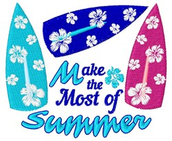The Most Of Summer embroidery design