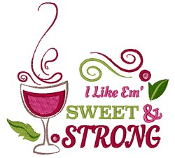 Sweet & Strong embroidery design