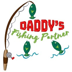 Daddys Fishing Partner embroidery design
